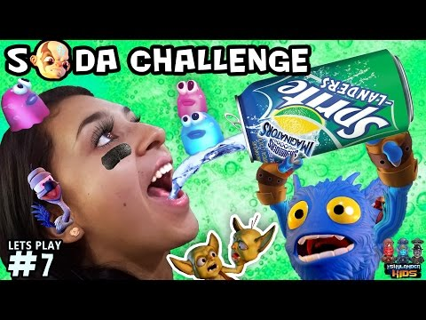 SPRITE-LANDERS Death Soda Challenge! Skylanders Imaginators Part 7 (FIZZLAND Blobs Globs FULL Level)