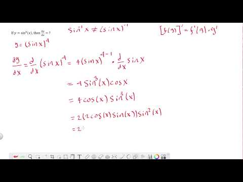 Example 1 - AP Calculus BC Exam Review - Trig derivative with chain rule.
