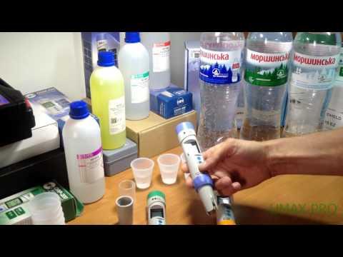 Тестирование Моршинской на кислотность, минерализацию, ОВП