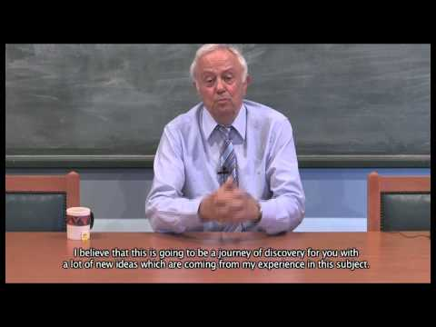 A message from Prof. George Vithoulkas for the E-Learning Program