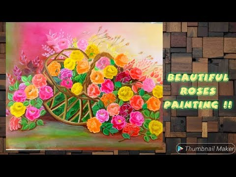 ROSE PAINTING STEP BY STEP II Rose Flower Painting Part-1(2019)