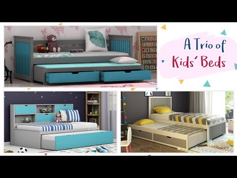 Trio of Kids Bed : Buy Kids Beds From Wooden Street Starting From Rs 35,999