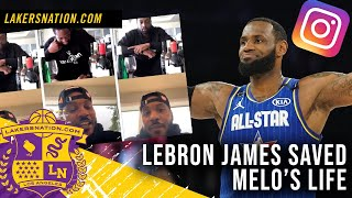 Lakers Star Lebron James Saved Carmelo Anthony's Life