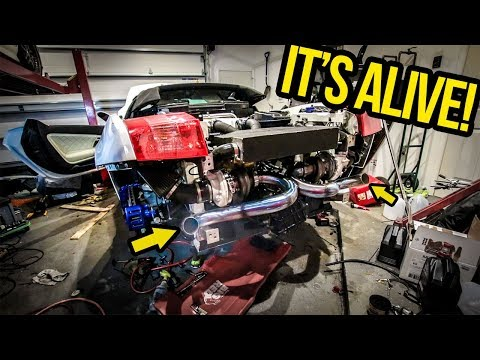 Starting My Cheap Lamborghini (With DIY Turbo Kit) For The FIRST TIME!