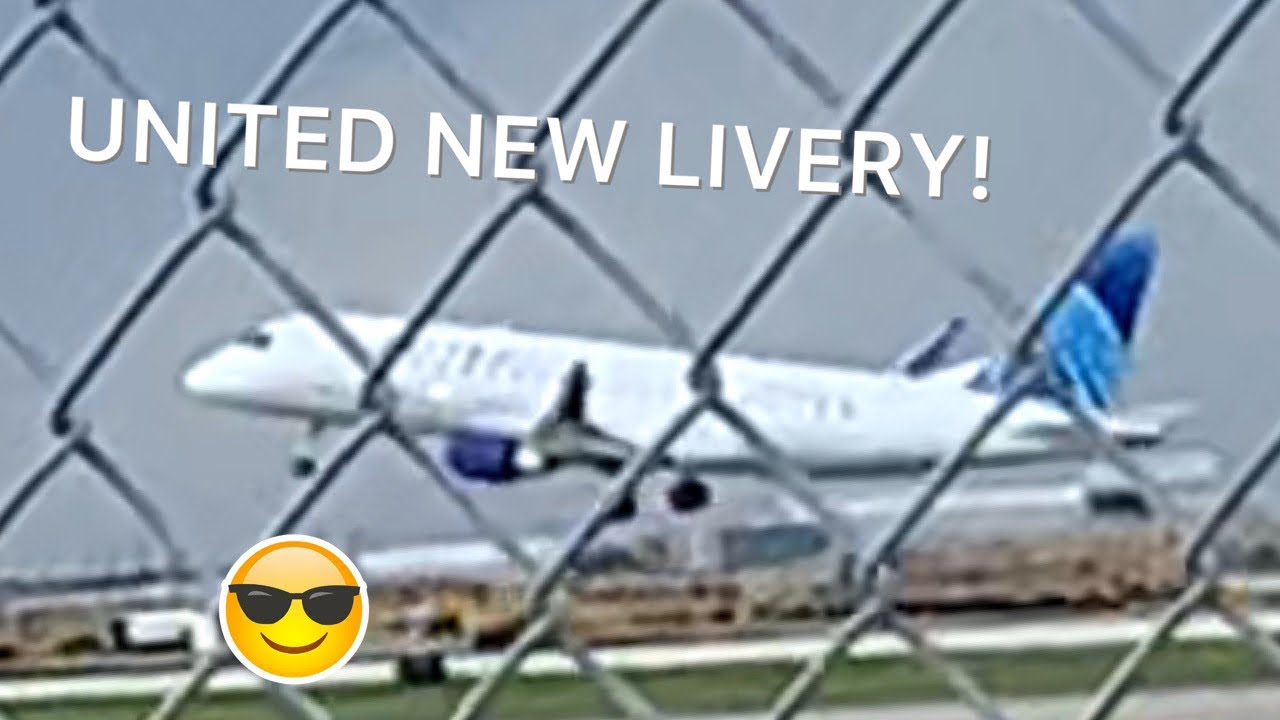 United New livery visits Chicago! Planespotting O'Hare airport