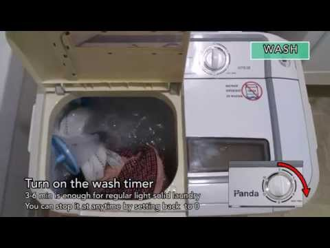 Panda Compact Portable Washing Machine Demo