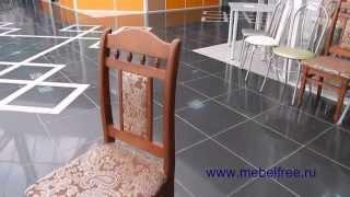 Стулья из массива сосны mebelfree(Интернет магазин обеденных столов, стульев, табуретов. Стулья из массива сосны, деревянные, цвет орех, купит..., 2015-07-10T12:55:22.000Z)