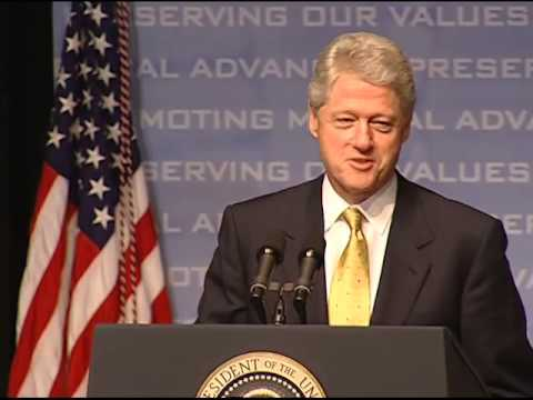 Pres. Clinton's Signing EO 13145 (2000)