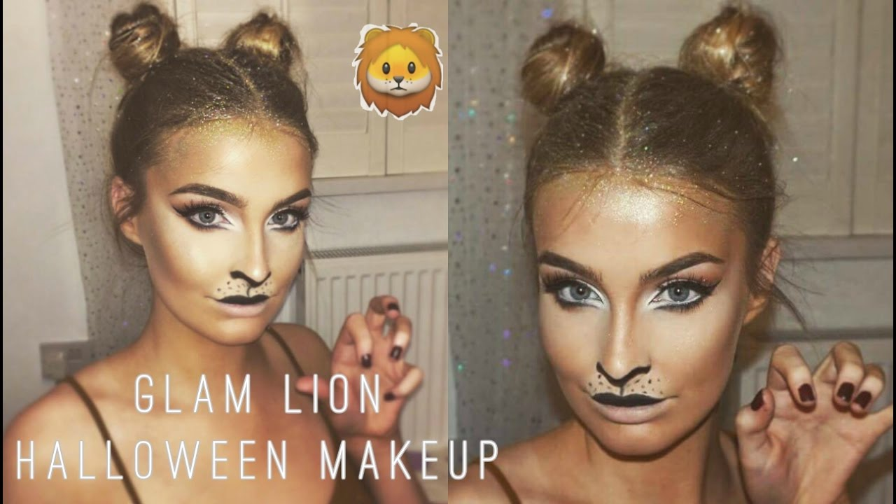 Easy Lion Halloween Makeup u0026 Hair Tutorial 2016 | Aoife Conway ? - YouTube  sc 1 st  YouTube : lion costume hair  - Germanpascual.Com