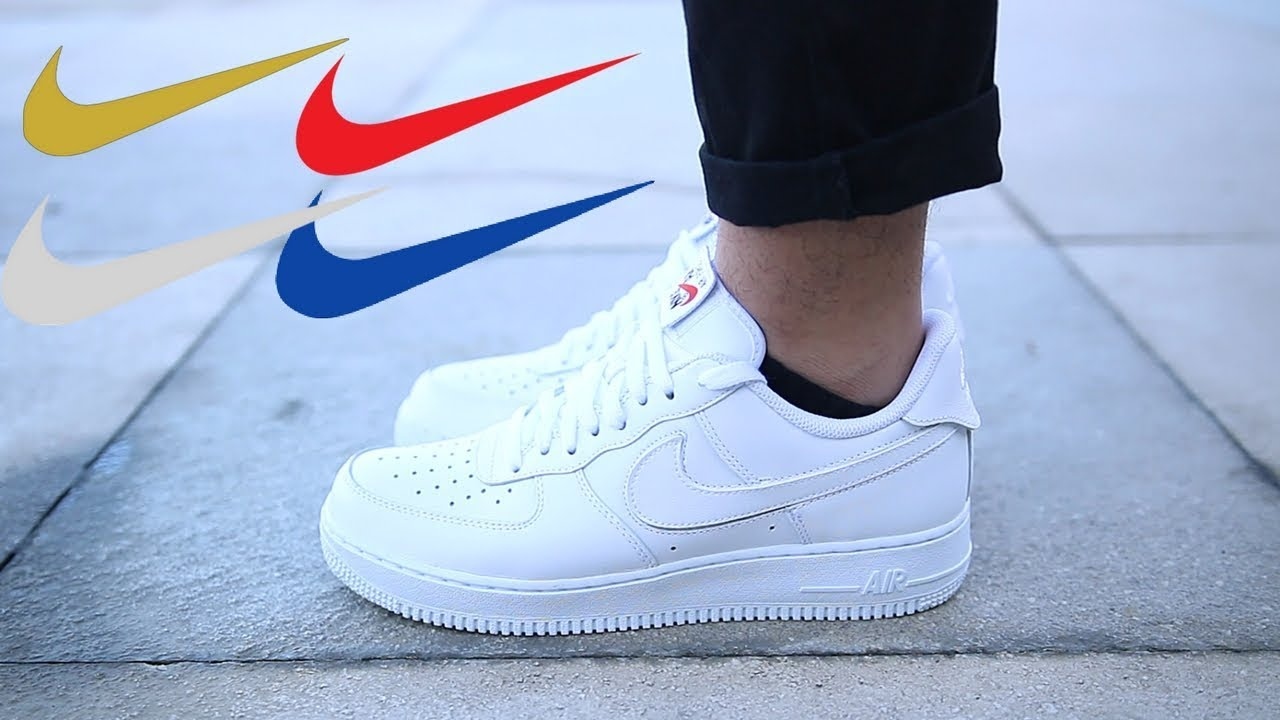 finest selection 10d19 81fa4 Air Force 1 Swoosh Pack On Feet ALL COLORS