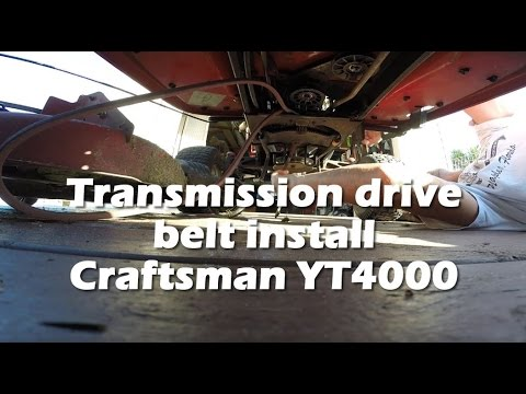 Replacing The Transmission Drive Belt On A Craftsman YT4000 Tractor