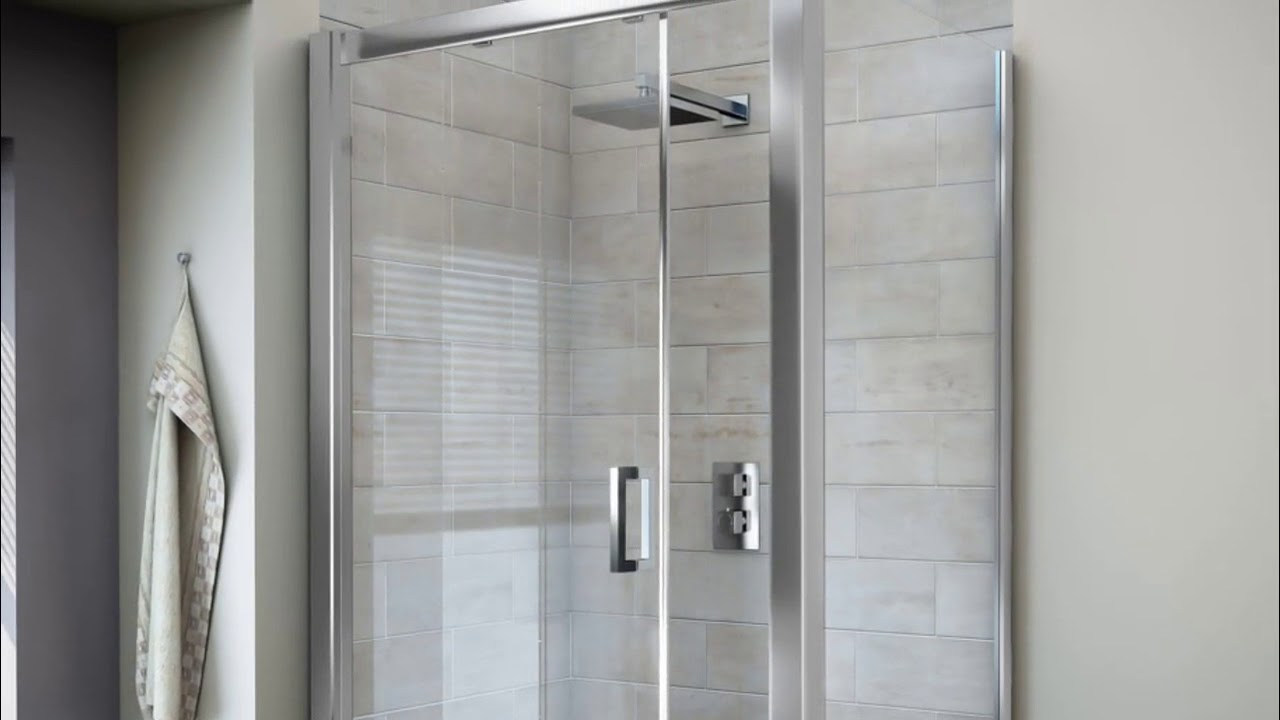 Large Shower Enclosures with Tray Ideas - YouTube