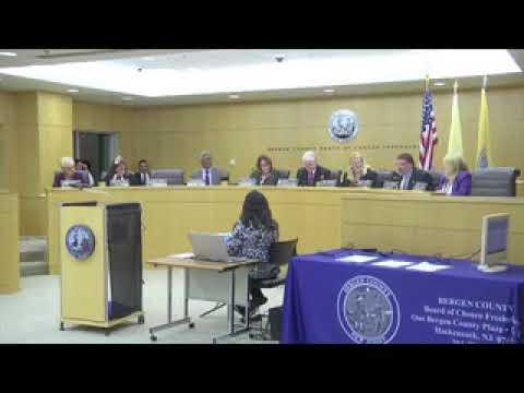 Bergen County Freeholders - 10-03-17 Public Meetng