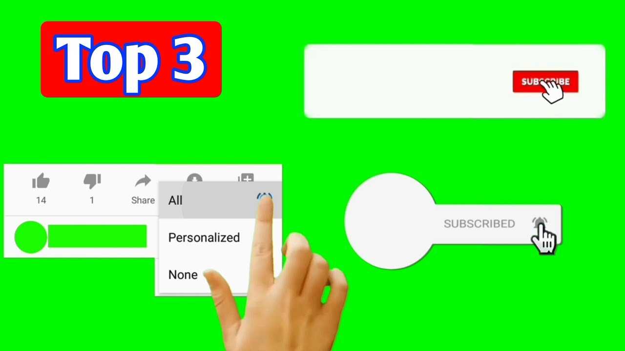 Download Top 3| Subscribe and bell icon intros green screen without copyright| Subscribe intro green screen