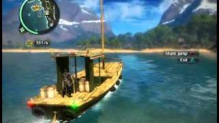 Just Cause 2  jumping  boats !!!!!!!!!1!!!!!