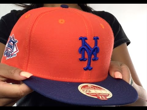 0937fb419f1 Mets  MLB WOOL-STANDARD  Orange-Navy Fitted Hat by New Era - YouTube