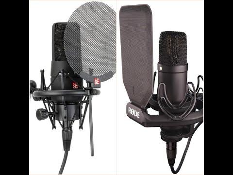 Microphone Comparison - Røde NT1 & sE Electronics X1
