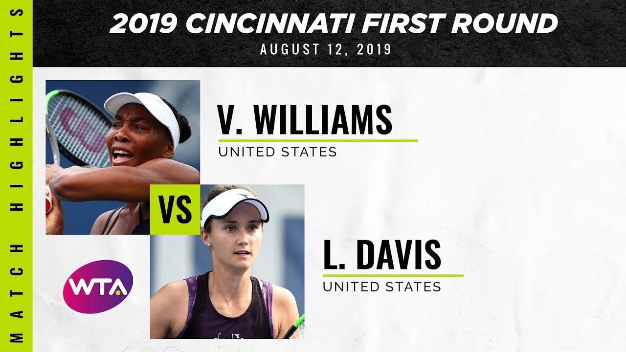 Venus Williams vs. Lauren Davis | 2019 Western & Southern Open First Round | WTA Highlights