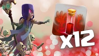 ALL LEVEL 3 WITCH and SKELETON SPELL Attack!! | MASS Larry Raids!| Clash of Clans