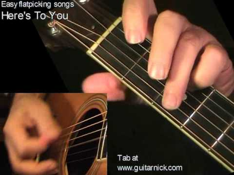 HERE'S TO YOU Baez/Morricone: Acoustic Guitar Lesson + TAB By GuitarNick