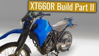 Yamaha XT660R Adventure bike build - Part II
