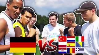 DEUTSCHE vs AUSLÄNDER FUßBALL CHALLENGE | BROTATOS