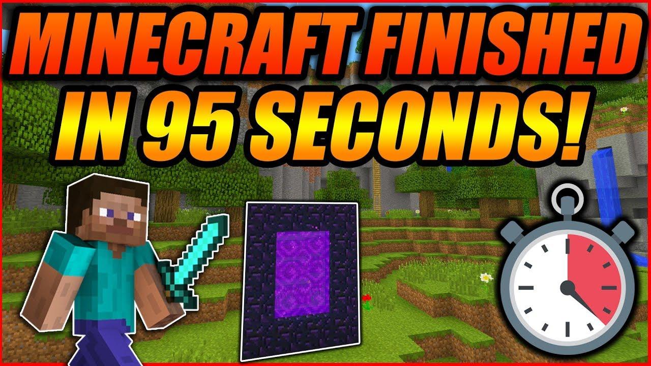 SpeedRun Video - How Minecraft Was Beaten In Only 12 Seconds