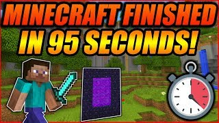 How Minecraft Was Beaten In Only 95 Seconds! - Minecraft TAS Speedrun Gameplay Analysis