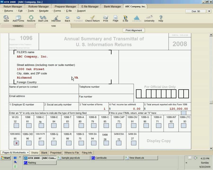 Forms 1099 And Form 1096 By Noel D Tallon Cpa Youtube
