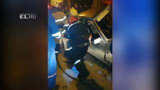 Спасение мужчины, влетевшего в столб на Бакинских Комиссаров