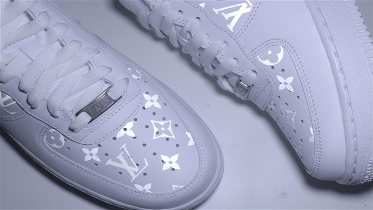 Custom Reflective Louis Vuitton Air Force One Tutorial Youtube