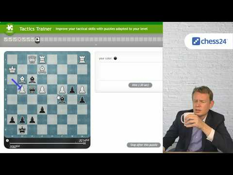 Grandmaster Jan Gustafsson solves chess tactics puzzles