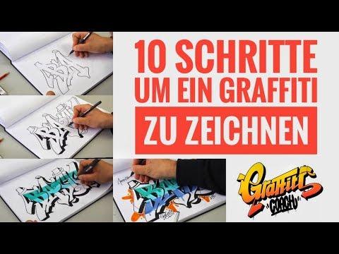 Graffiti Coach - 10 Schritte um ein Graffiti zu zeichnen - Basics