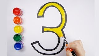 Learn color with Number coloring pages Learn numbers for kids