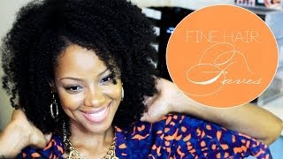 2014 Natural Hair Routine | Fine 4A Natural Hair | BorderHammer