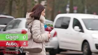 Eksperiments, cik daudz vadītāju ievēro ceļu satiksmes noteikumus lielveikalu stāvlaukumos?!