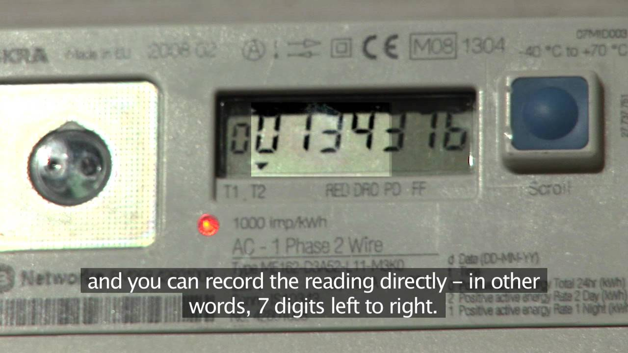Reading an Electronic Day & Night Meter