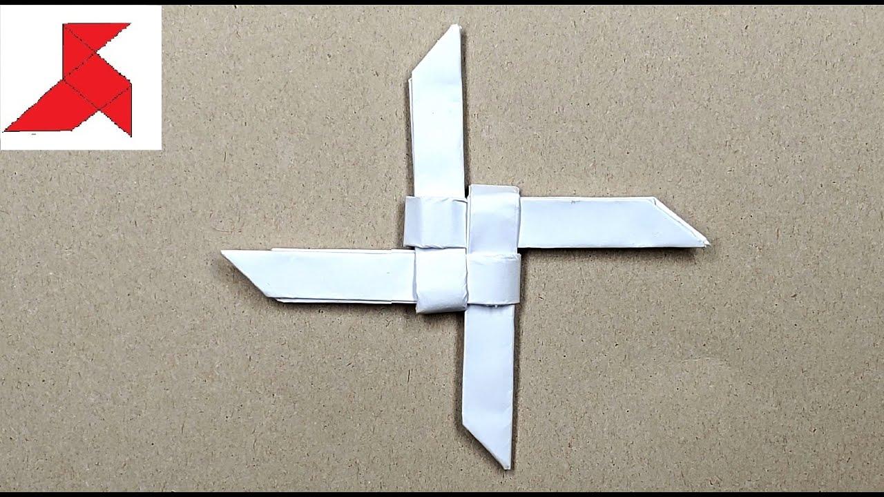 Как сделать сюрикен из бумаги? Поделки из бумаги! 65