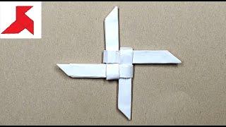видео Как сделать сюрикен из бумаги