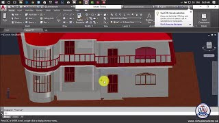 How to Make 3d house in Autocad | AutoCAD Architecture 2017 | 3D House modeling  | Lesson 80