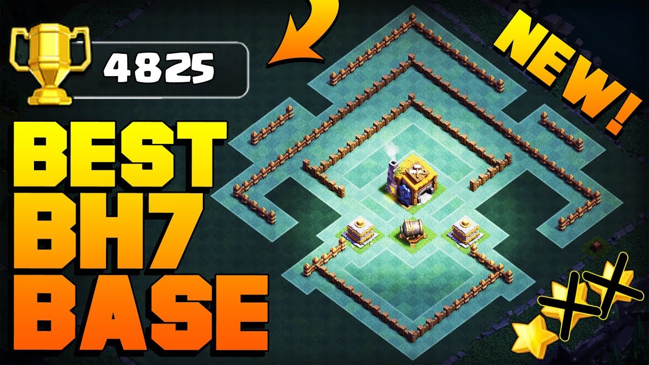 Best Builder Hall 7 Base W Proof Coc Bh7 Giant Cannon Update Base Clash Of Clans Youtube