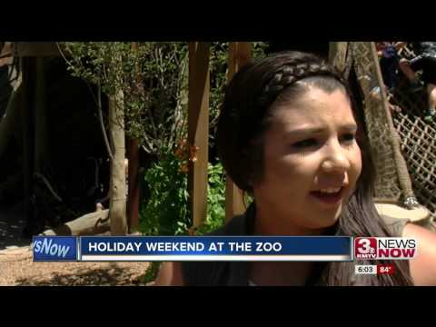 Busy holiday weekend at the zoo