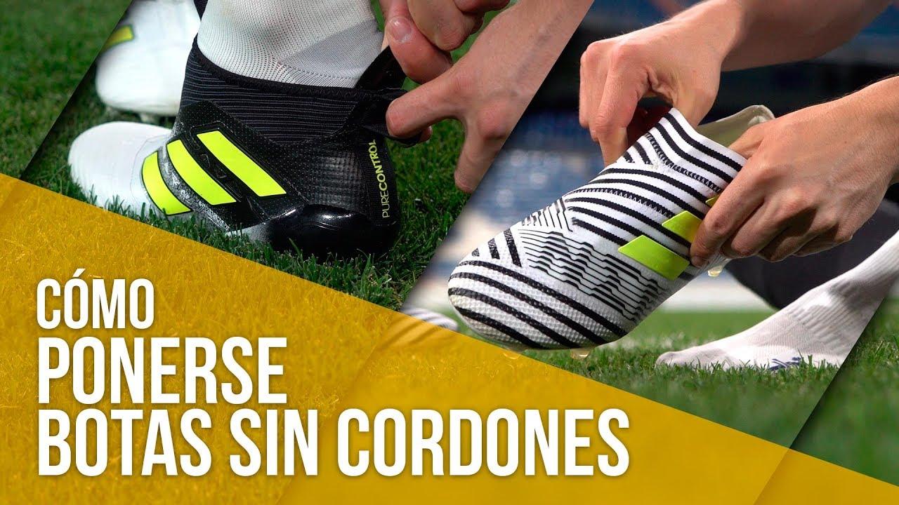 new product c4b32 35e0e CÓMO PONERSE LAS BOTAS SIN CORDONES DE ADIDAS