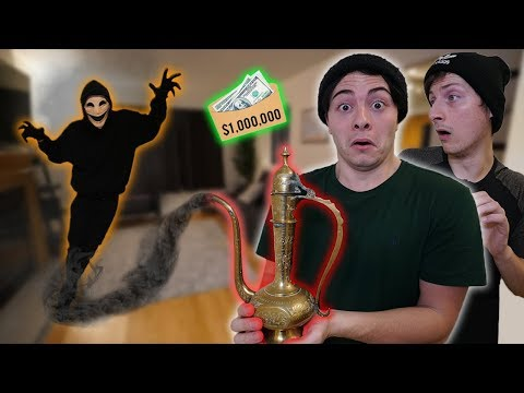 Ancient GENIE LAMP Grants Us 3 WISHES! *1 MILLION DOLLARS* (You WON'T BELIEVE This!)