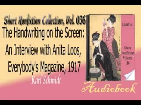 The Handwriting on the Screen An  with Anita Loos, Everybody's Magazine, 1917 Karl Schmidt