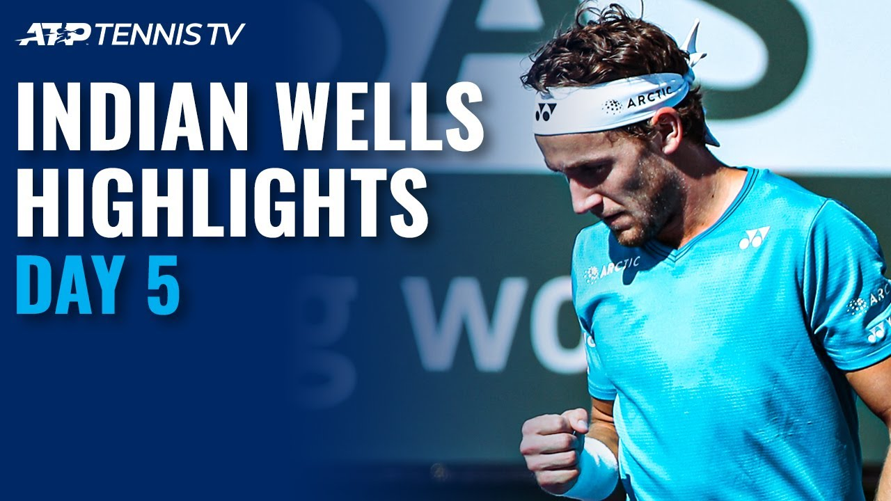 Medvedev and Krajinovic Tussle; Ruud and Harris Square Off | Indian Wells 2021 Day 5 Highlights