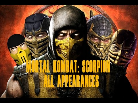 Mortal Kombat Scorpion Appearances MK1 - MKX
