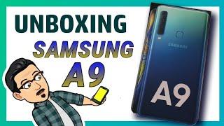 UNBOXING SAMSUNG Galaxy A9 en Español ✨, primer terminal con 4 cáma...
