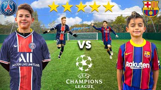 Kid MESSI vs Kid NEYMAR (BARCELONA vs PSG CHAMPIONS LEAGUE 2021) - Football Competition