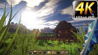 Minecraft 1.8 4k Gameplay | SEUS v10.1 | OptiFine | S&K Photo Realism | Chroma Hills